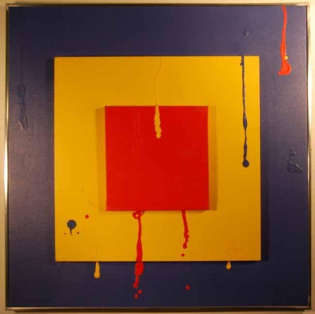 55: Milton Glaser Abstract Art Oil on Canvas