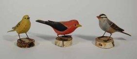 3 Hazel Tyrell Bird Carvings