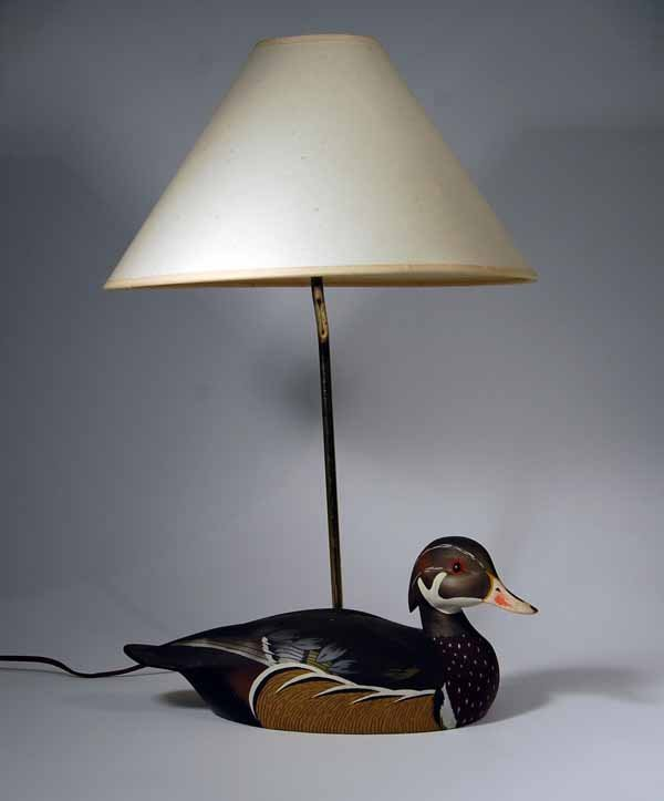 16: Ken Harris Wood Duck Lamp
