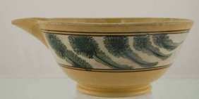 11: Yelloware batter bowl with mocha green seaweed