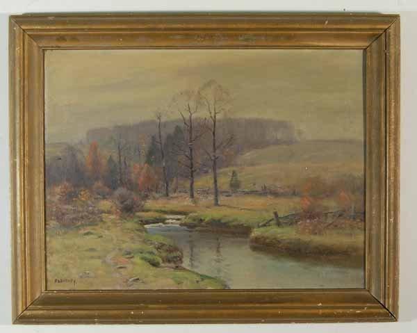 407: Frank A. Barney - Oil on Canvas - Autumn Landscape