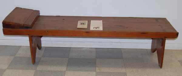Ephrata Cloister Pine Plank Bed -Lancaster County