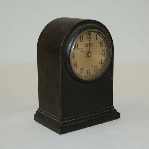 Tiffany & Co. Brass Dome Top Clock
