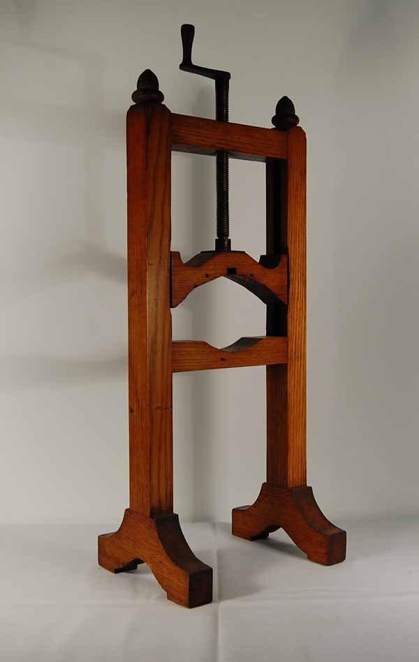 Oak Wooden Adjustable Clock Stand w/ Acorn Finial
