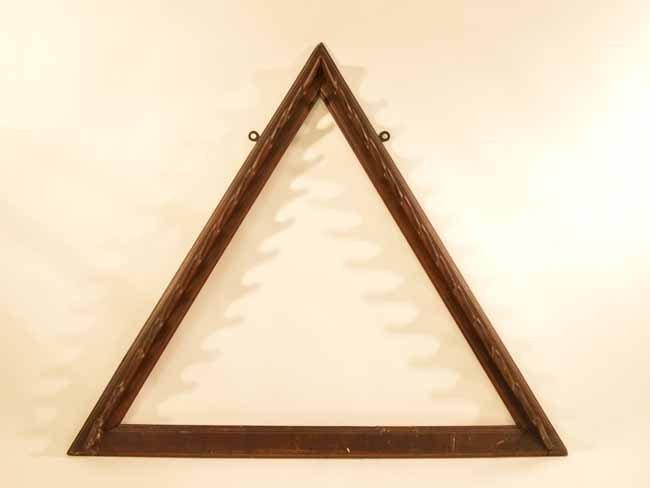 Walnut Billiard Rack (Triangle Form)