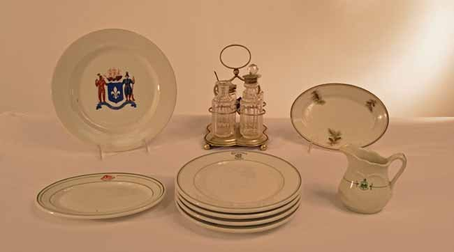 Hotel China and Condiment Set
