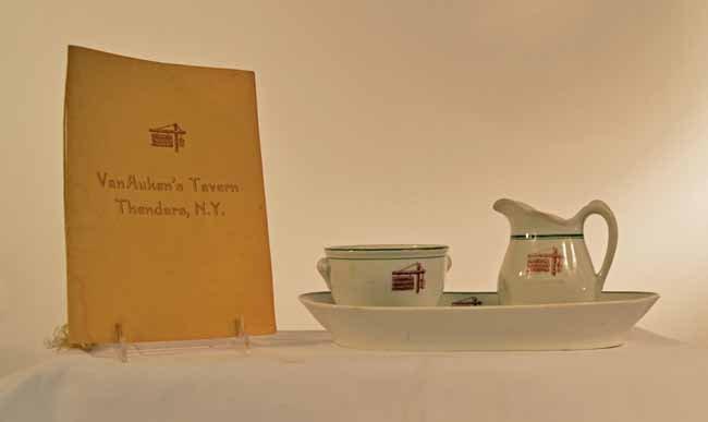 VanAuken's Tavern, Thendera NY - Menu & China
