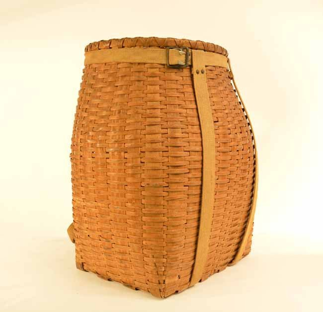 Adirondack Pack Basket with Canvas Straps