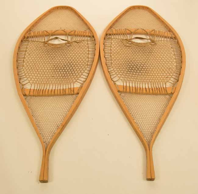 Intricately Weaved Native American Snowshoes