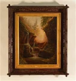James Hope (1818-1892) Oil on Canvas Wakins Glen NY
