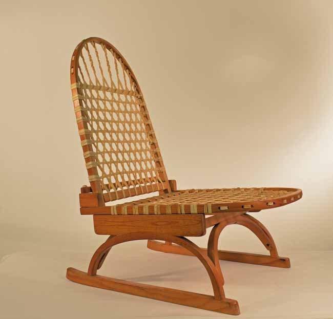 Folding Snowshoe Style Canoe Seat