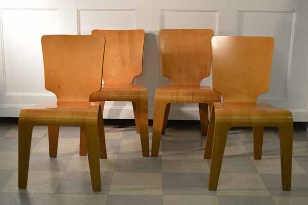 Set Of Four Thaden / Jordan Molded Plywood Chairs