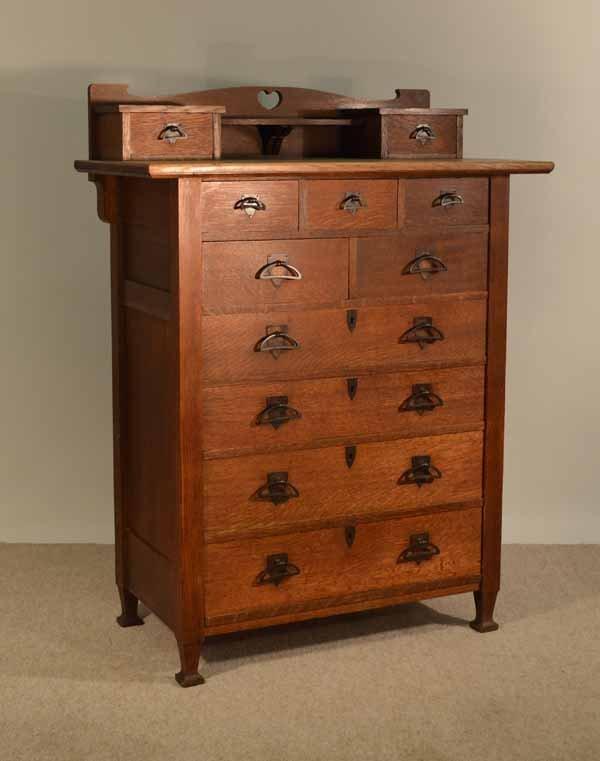 11 drawer mission oak highboy dresser lot - Highboy Dresser