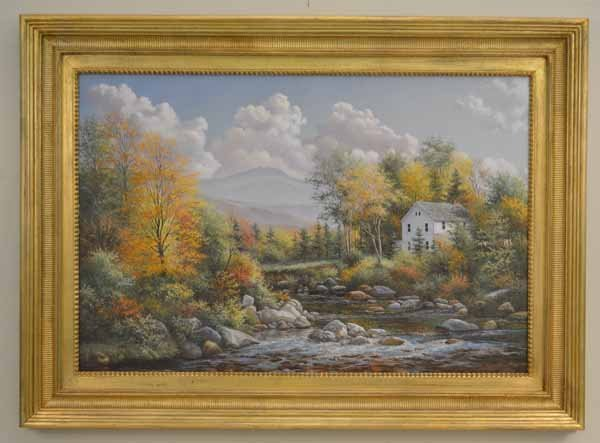 Bruce Mitchell Oil on Canvas Painting