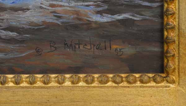 Bruce Mitchell Oil on Canvas Painting - 2