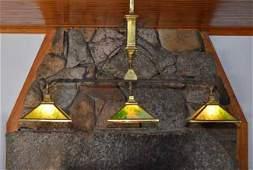Hanging Three Light Pool Table Light Fixture