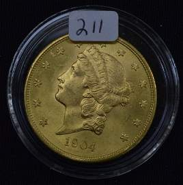 1904 US Gold $20 Coin