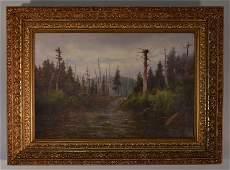 """William Ongley """"Eagles Nest Adirondacks"""" O/C"""