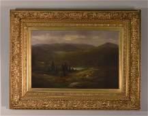 William Ongley Oil on Canvas - Adirondack Mountain