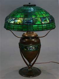 Impressive Tiffany Studios Turtle Back Table Lamp