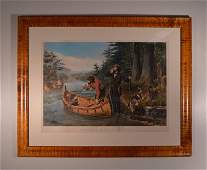 Currier & Ives Large Folio-American Hunting Scenes