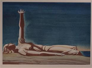 Rockwell Kent 1927 Watercolor of Woman