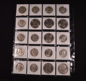 20 U.s. Half Dollars And Dollars (some Silver)