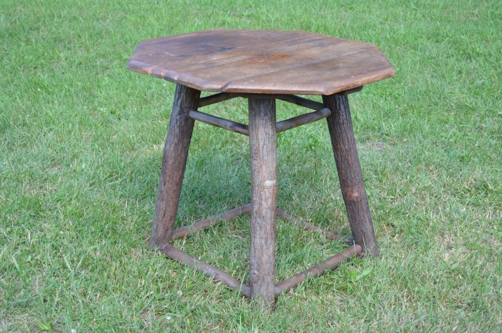 Branded Old Hickory Octagonal End Stand - 2