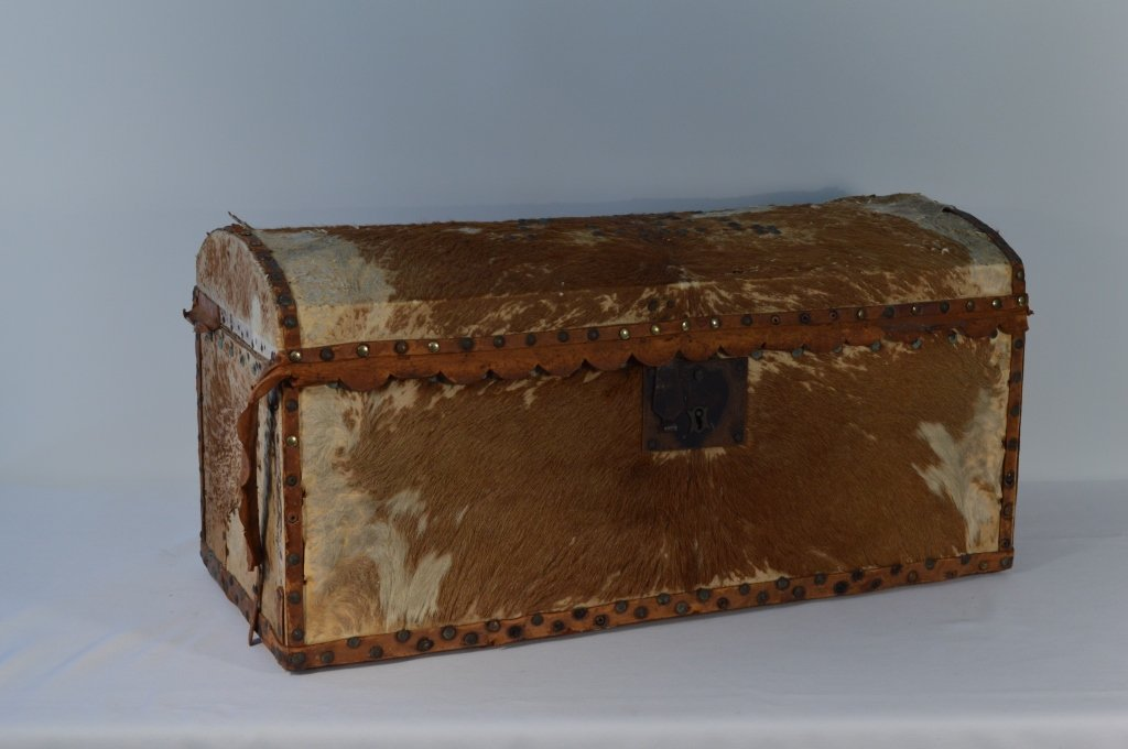 Hide Covered Dome Top Trunk