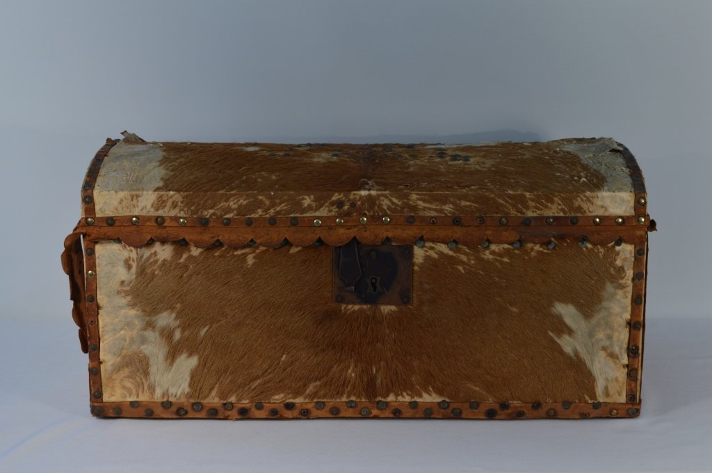 Hide Covered Dome Top Trunk - 3