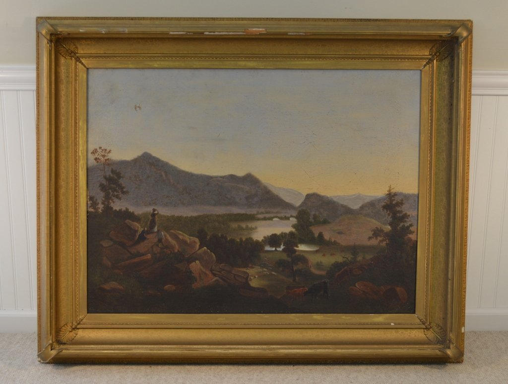 Hudson River School Oil on Canvas Painting