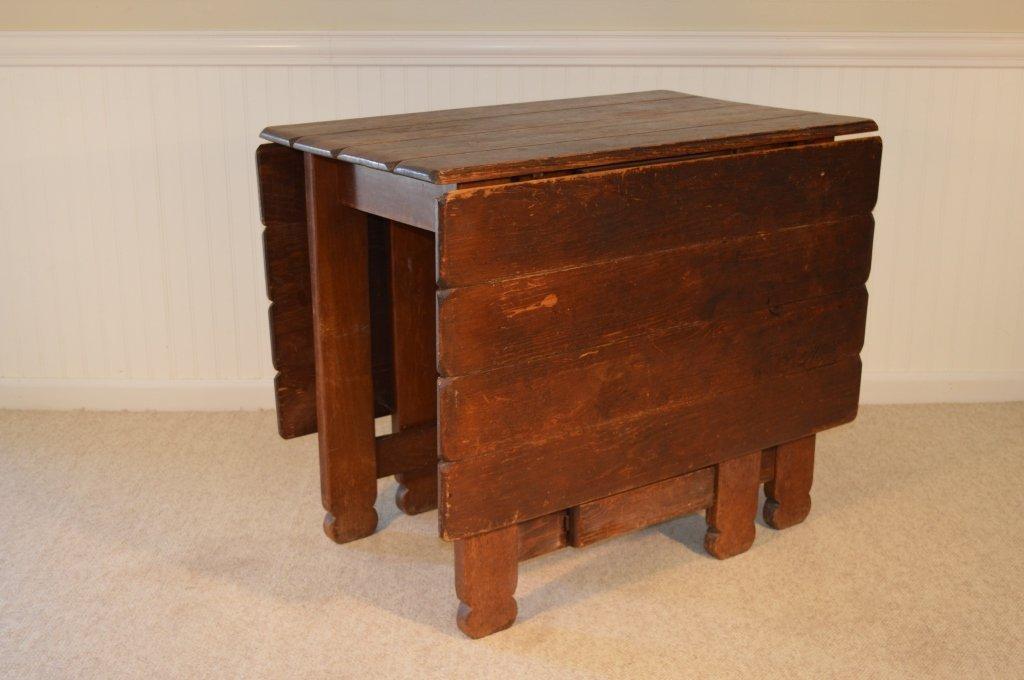 Branded Old Hickory Drop Leaf Gate Leg Table -715P