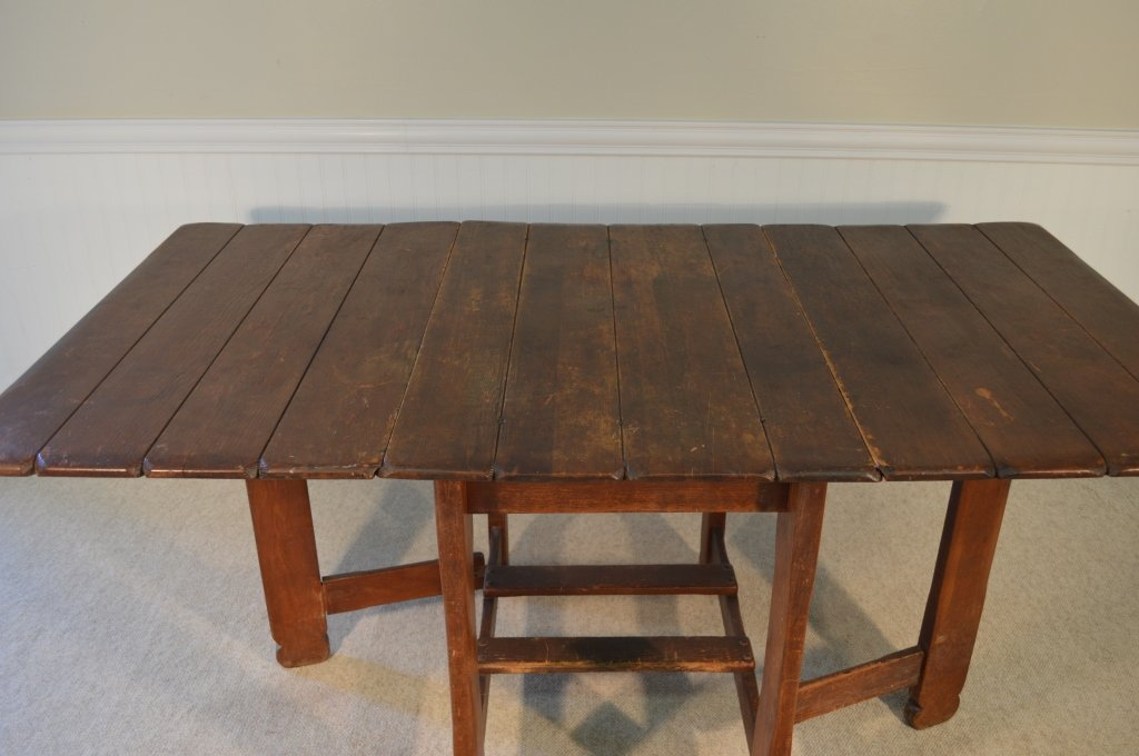 Branded Old Hickory Drop Leaf Gate Leg Table -715P - 6