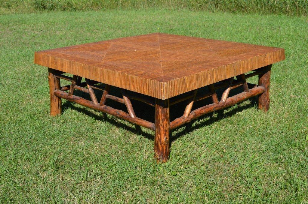 Massive Mosaic Top Adirondack Coffee Table - 2
