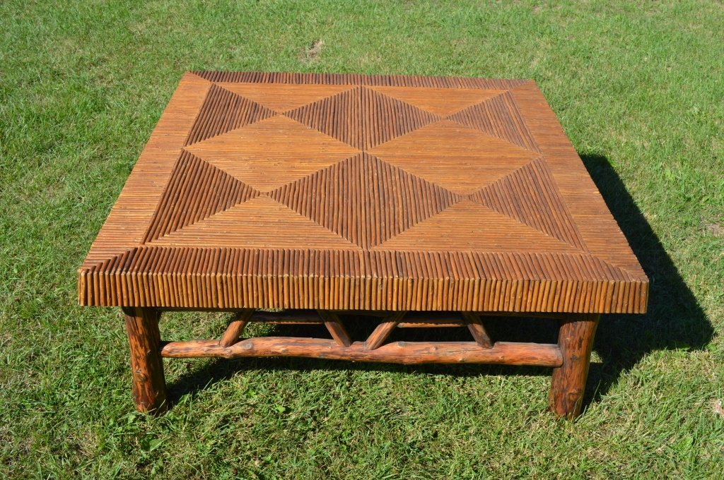 Massive Mosaic Top Adirondack Coffee Table - 3