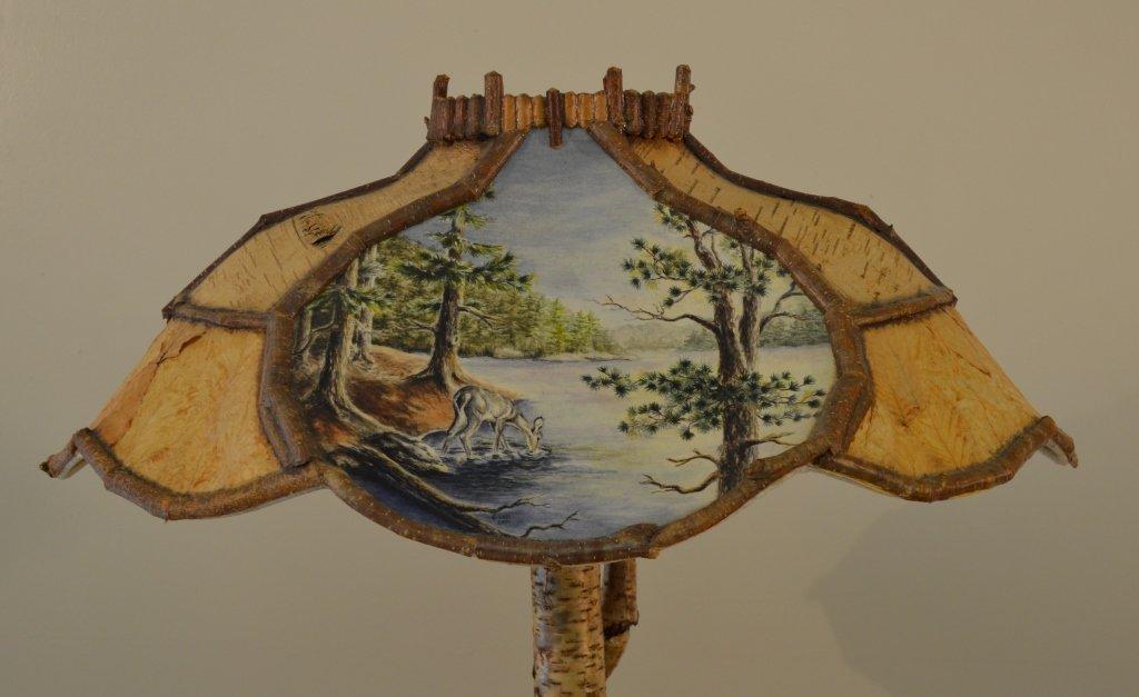 Yellow Birch Root Base Table Lamp - 2
