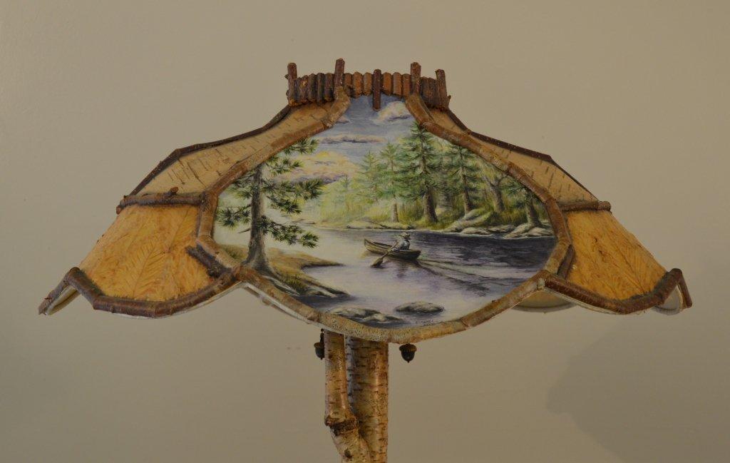 Yellow Birch Root Base Table Lamp - 3