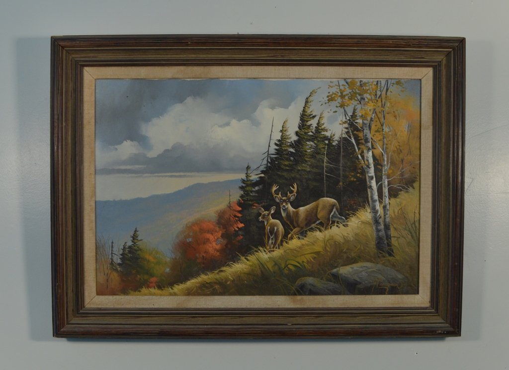 Gary Casagrain (Tupper Lake) Deer Oil on Canvas
