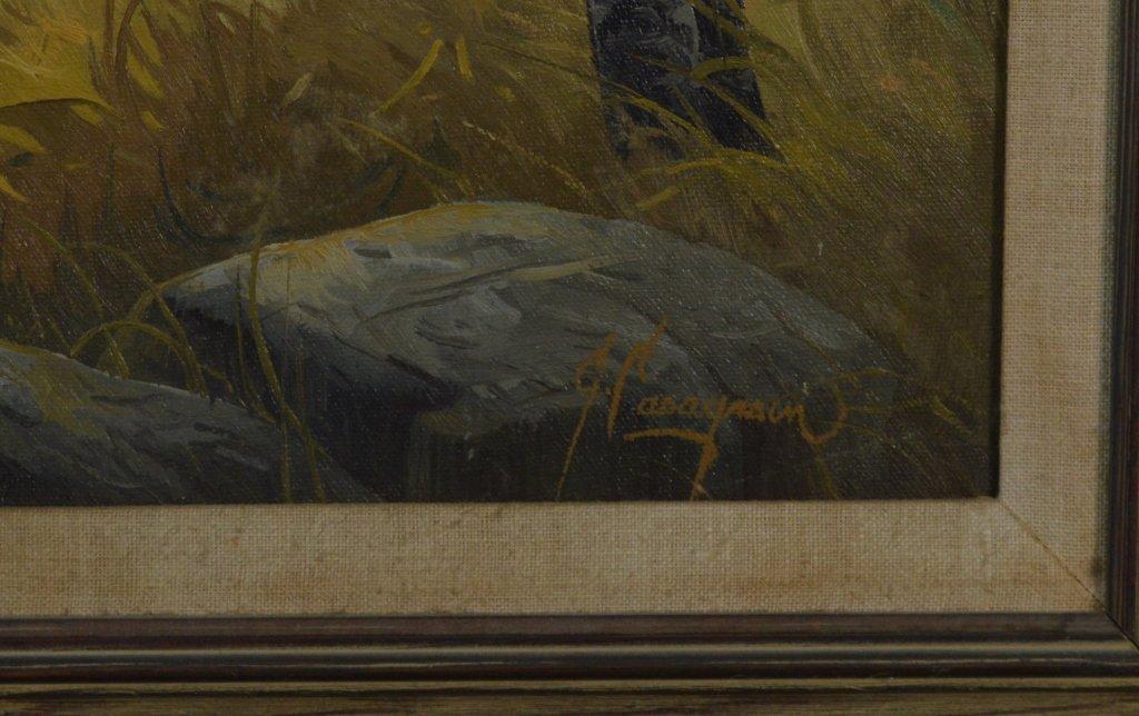 Gary Casagrain (Tupper Lake) Deer Oil on Canvas - 2