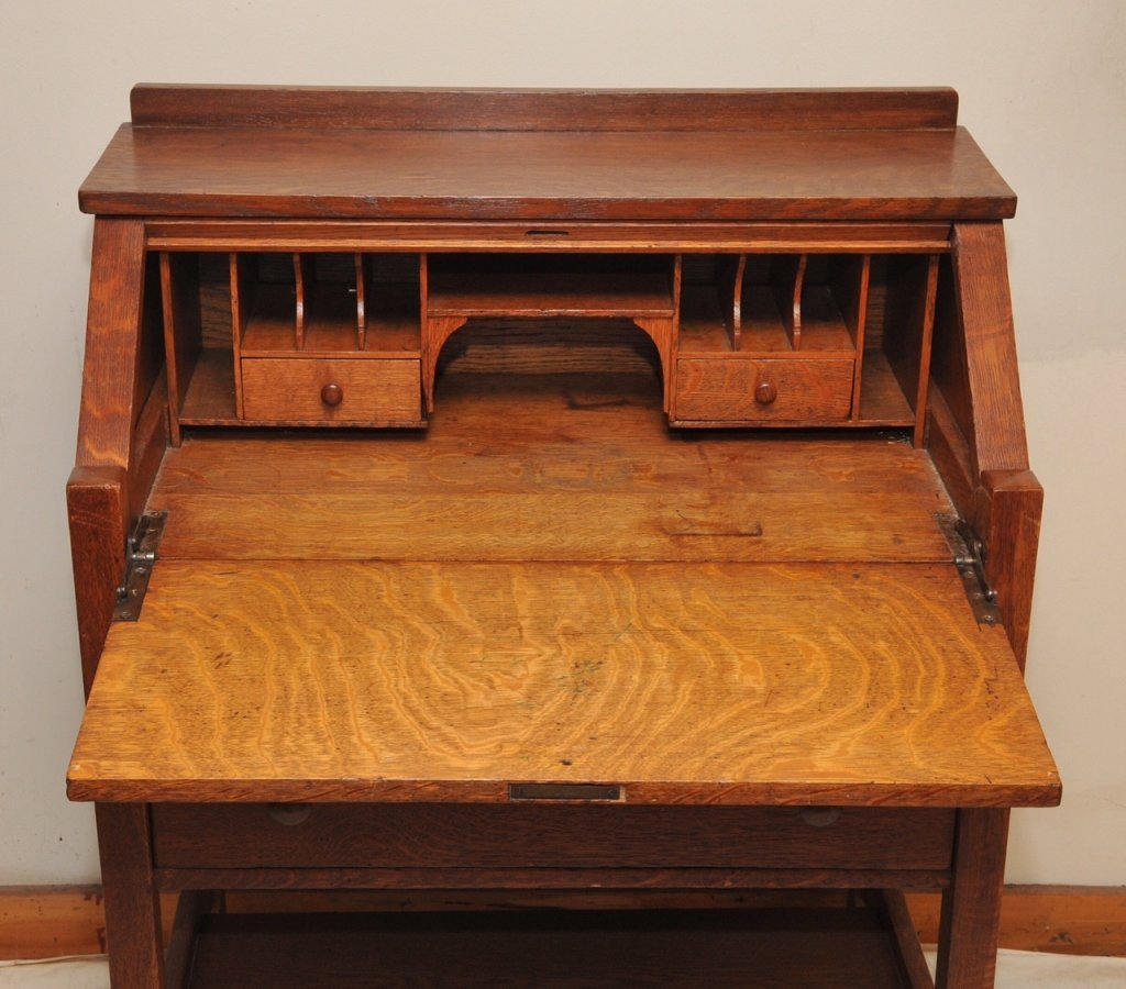 L. & J.G. Stickley Quarter Sawn Oak Writing Desk