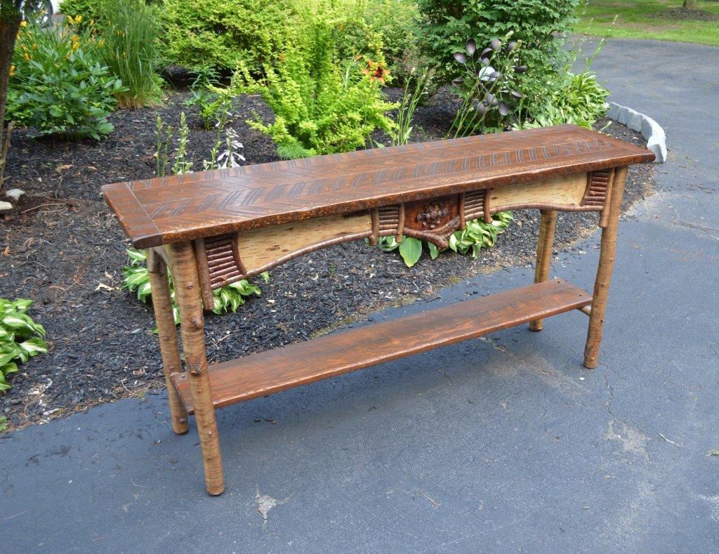 Wager Adirondack Rustic Sofa Table