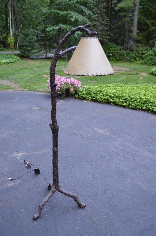 6' Modern Rustic Faux Tree Floor Lamp