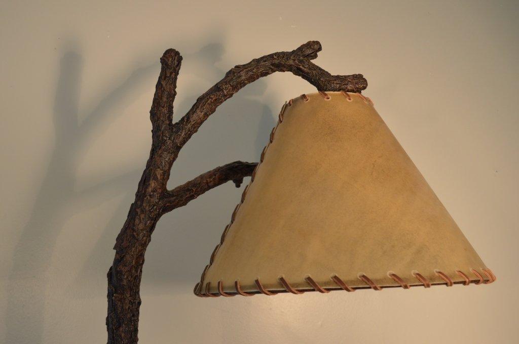 6' Modern Rustic Faux Tree Floor Lamp - 2