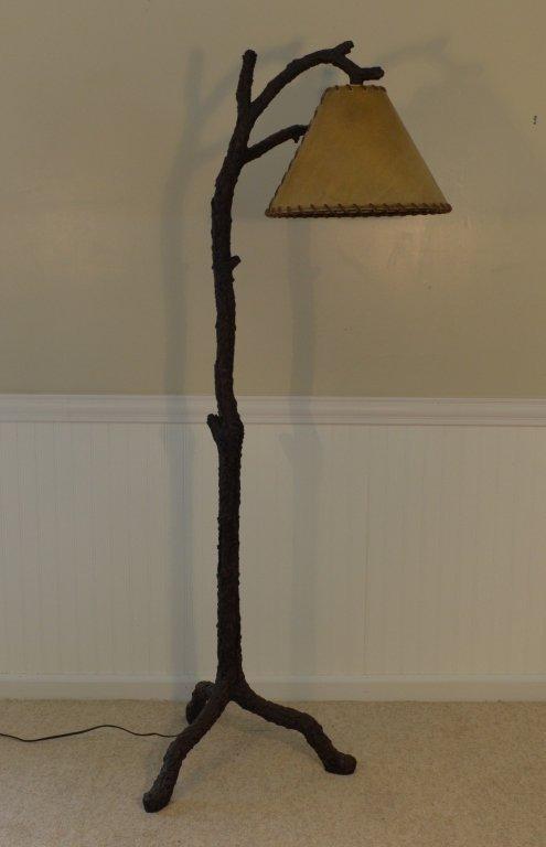 6' Modern Rustic Faux Tree Floor Lamp - 3
