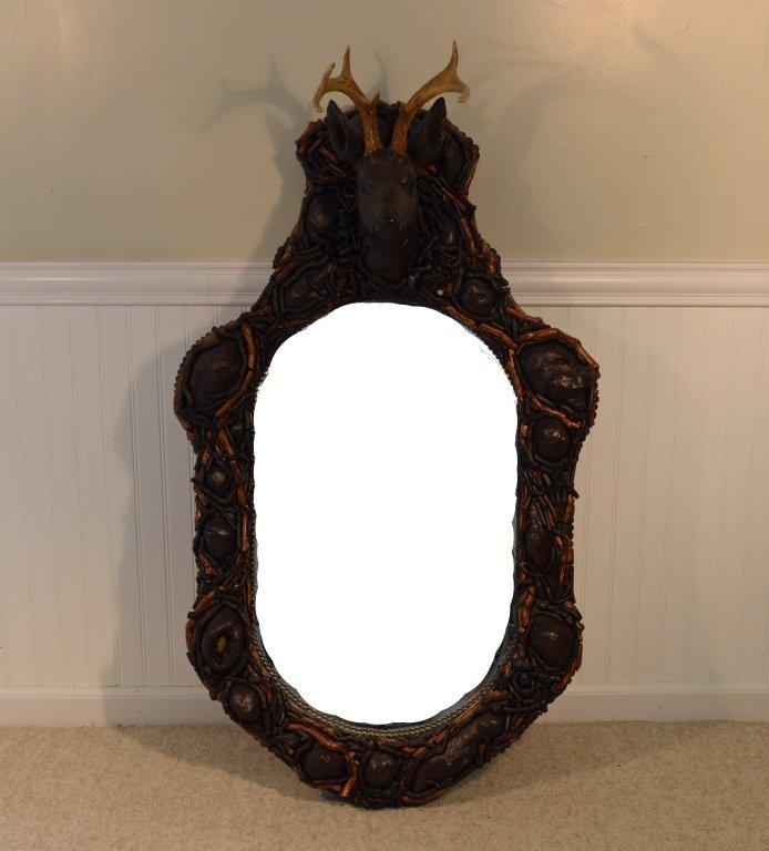 Adirondack Faux Mosaic and Burl Mirror - 3