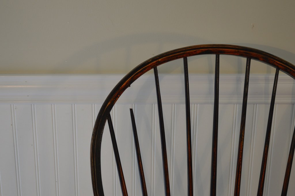 Set of 6 Windsor Style Bowback Dining Chairs - 2