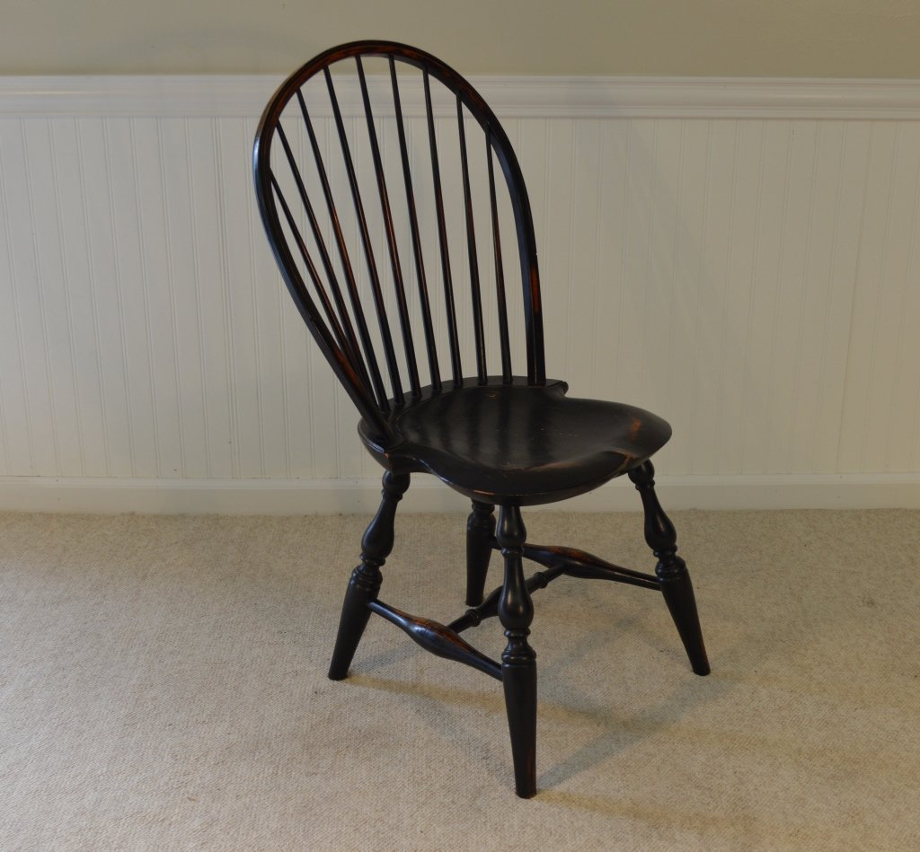Set of 6 Windsor Style Bowback Dining Chairs - 3