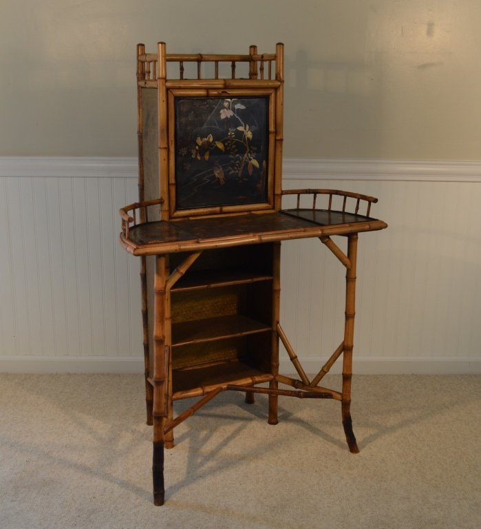 Bamboo Drop Front Writing Desk