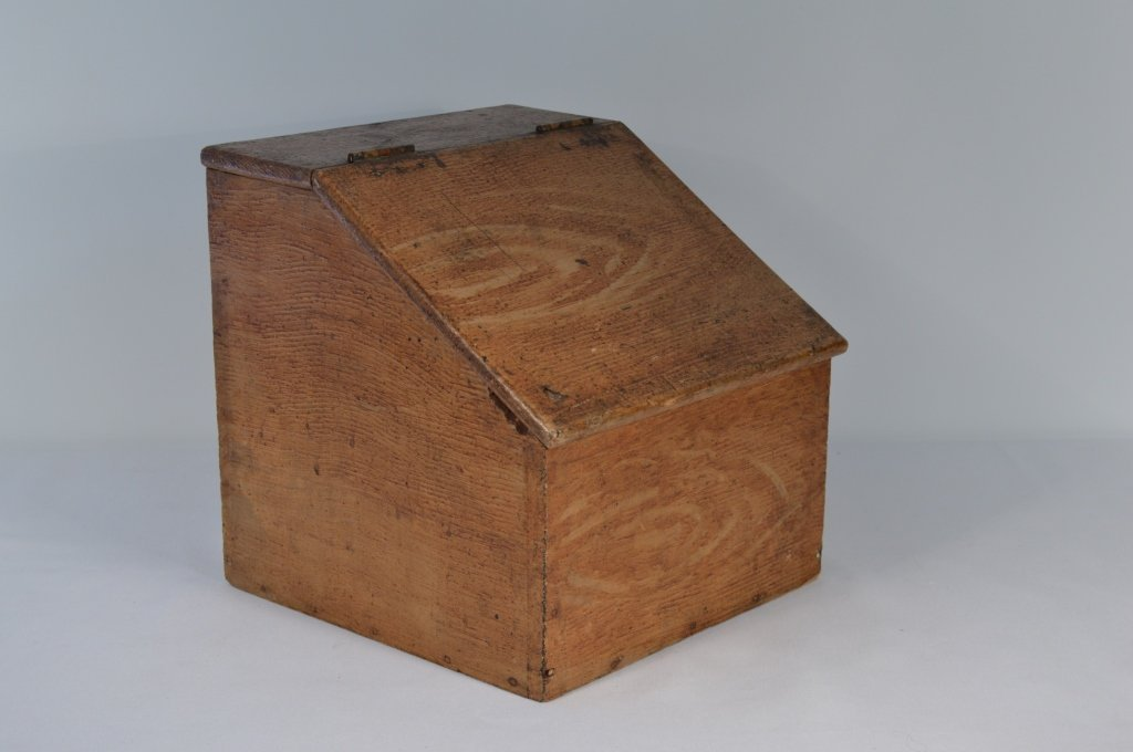 Slant Lid Grain Painted Dry Good Box