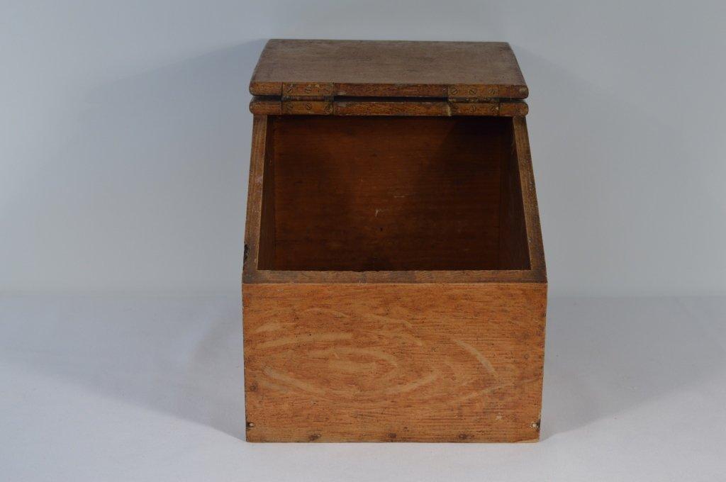 Slant Lid Grain Painted Dry Good Box - 2